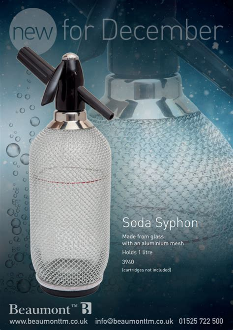 New for December! Introducing the Soda Syphon