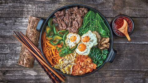 Mixed rice bowl with beef (bibimbap) recipe : SBS Food