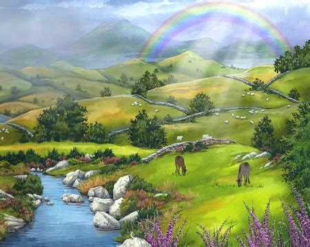 Rainbow land - Rainbows & Nature Background Wallpapers on