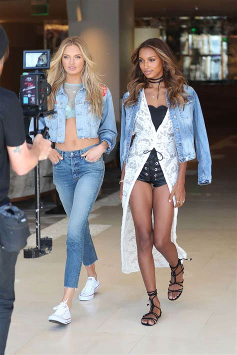 Romee Strijd and Jasmine Tookes Stills at Press Shoot for