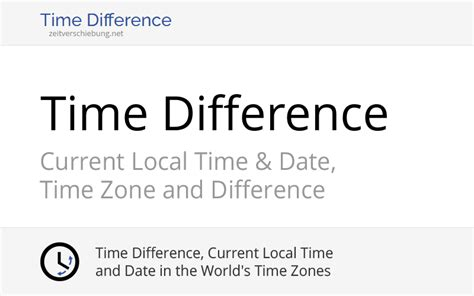 Time Zone Converter: Calculate time difference between