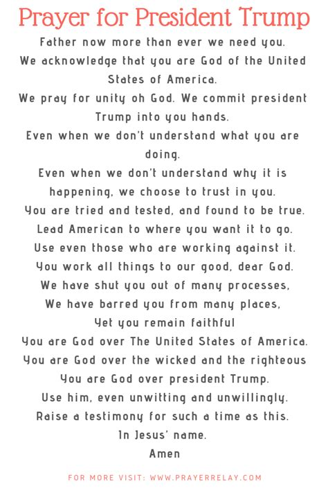 Powerful Points And Prayer for President Trump - The
