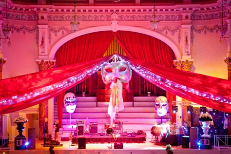 Venetian Masquerade Theme Decorations and Props - Flaming