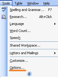How to show or hide tab characters in Word?