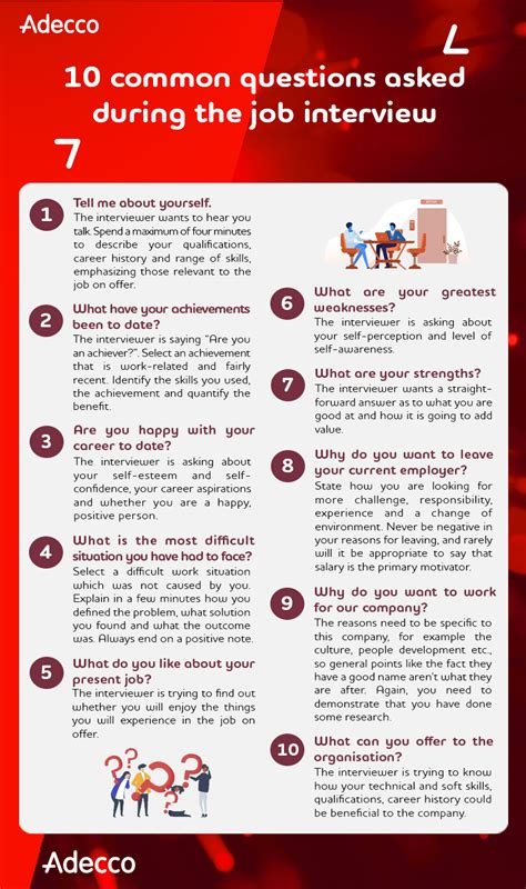 10 common questions asked during the job interview