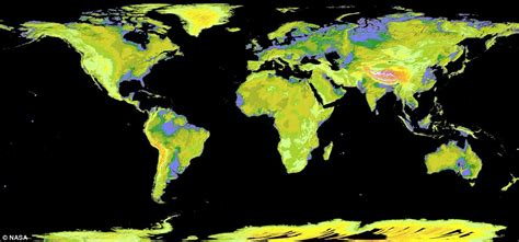 Nasa's Aster satellite map reveals 99% of Earth's land