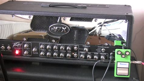 Ibanez TS9 With Peavey JSX 120 Head On Crunch Chanel