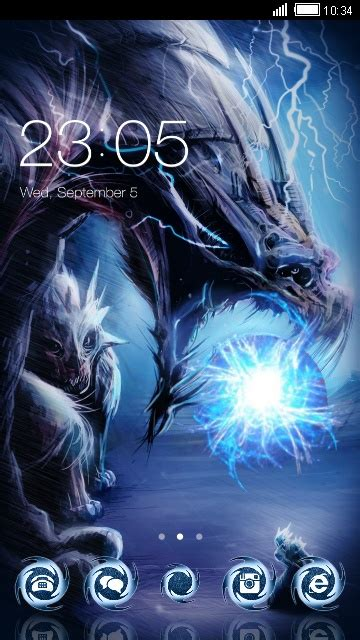 Cool dragon free android theme – U launcher 3D