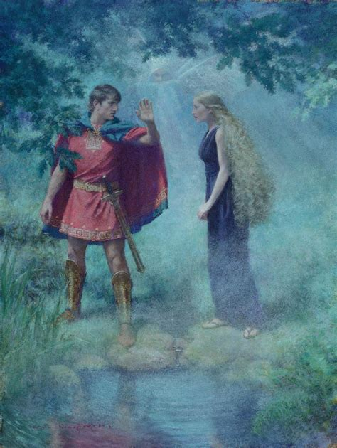 Demetrius asks Helena not to follow him in the woods of