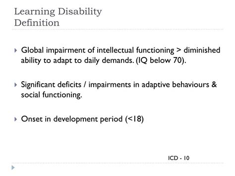 PPT - Introduction – Learning Disability Psychiatry