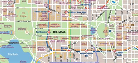 National Mall Map in Washington, D