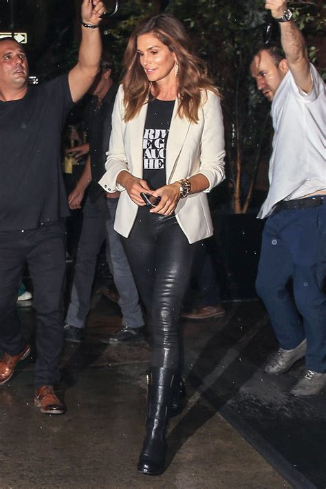 Cindy Crawford at the Mercer Hotel - Leather Celebrities