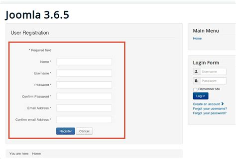 How to Simplify the Joomla Registration Form - Joomlashack