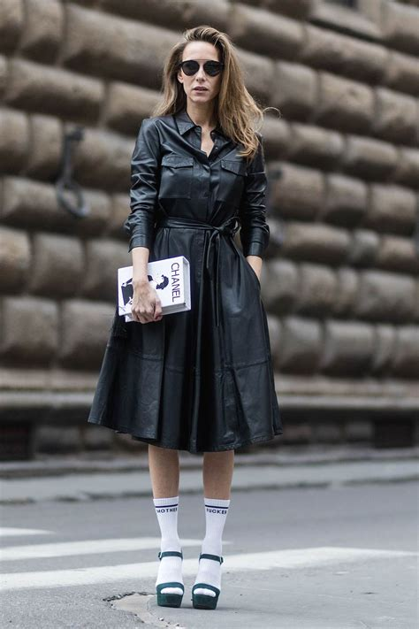 Alexandra Lapp street style in Florence - Leather Celebrities