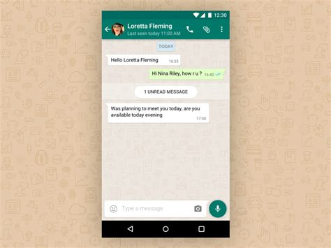 WhatsApp Chat Detail View Sketch freebie - Download free
