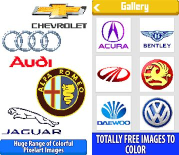 Cars Logo Color by Number: Pixel Art Coloring Book Apk