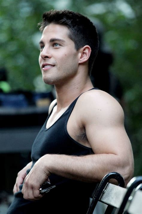 Dean Geyer in Lea Michele spends the day shooting scenes