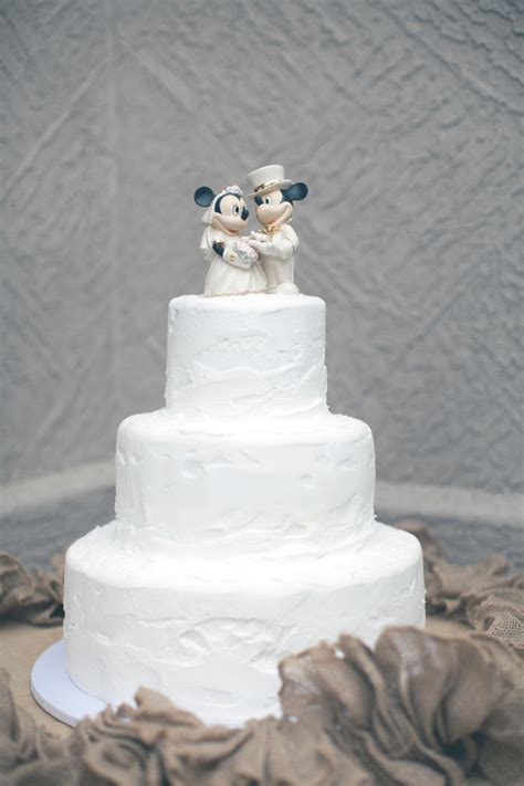 Mickey and Minnie Mouse Wedding Cake Topper