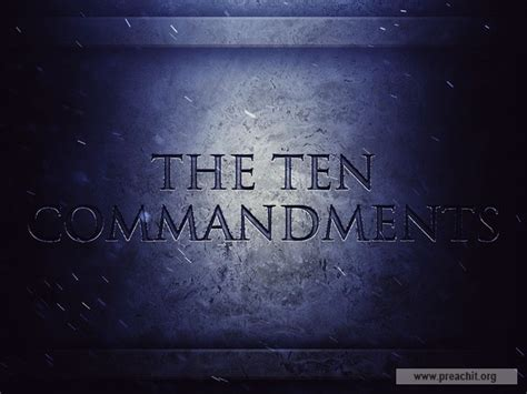 Sermon Series by Topic: The Ten Commandments