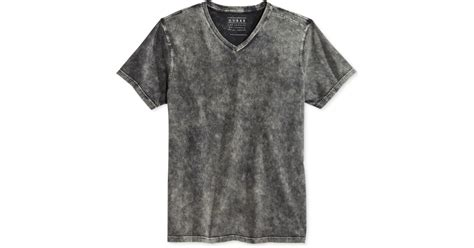 Lyst - Guess Men's Gunnarson Mineral-wash T-shirt in Gray