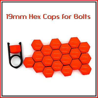 19mm Hex Caps for Bolts Car Nuts Covers Alloy Wheels