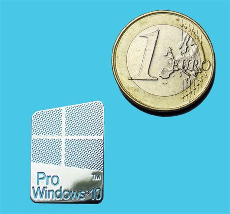WINDOWS 10 PRO METALISSED CHROME EFFECT STICKER LOGO