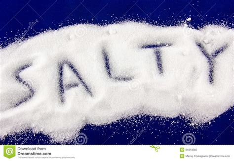 Salty concept stock image