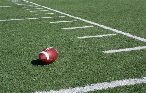 American Football Field Yard Lines Stock Photo - Image of