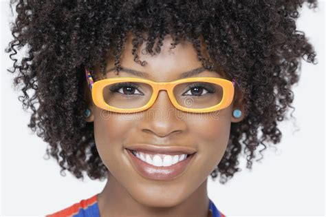 Close-up Portrait Of An African American Woman Wearing