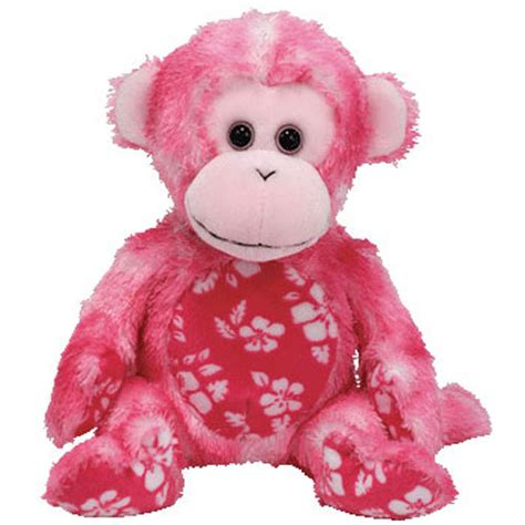 TY Beanie Baby - SUNSET the Pink Monkey (7
