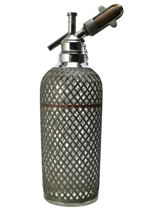 Soda Syphon Glass Bottle with Chrome - Fles