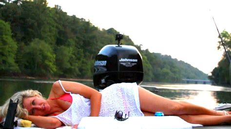 Calm Before The Storm Fishing With Girl On The Hooch - YouTube