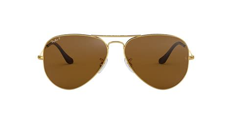 Ray-Ban RB3025 62 AVIATOR 62 Brown & Gold Polarized