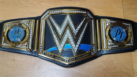 NEW BLUE SMACKDOWN WWE WORLD CHAMPIONSHIP MODIFIED REPLICA