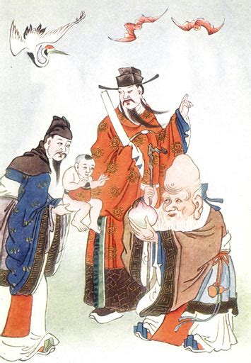 Datei:The Gods of Happiness, Office, and Longevity