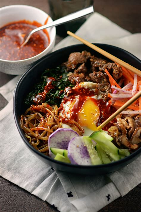 Korean Bibimbap Bowls - Simple Seasonal