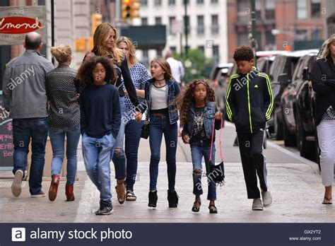 Heidi Klum and family out and about in Tribeca Featuring