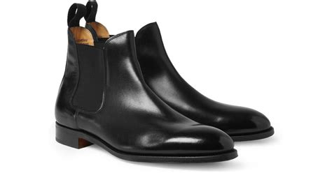 Lyst - John lobb Chesland Leather Chelsea Boots in Black