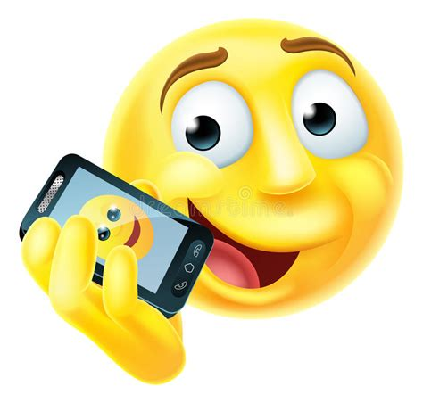 Mobiele Telefoon Emoji Emoticon Vector Illustratie
