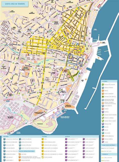Tenerife Attractions Map PDF - FREE Printable Tourist Map